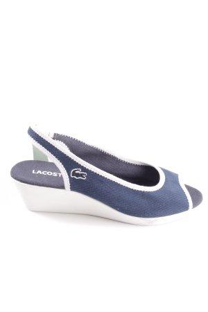 Lacoste Wedges Sandaletten blau-weiß Casual-Look