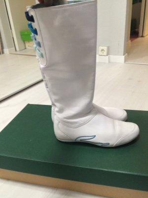Lacoste weiße Lederstiefel
