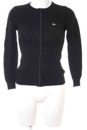 Lacoste Chaqueta de lana negro estilo deportivo