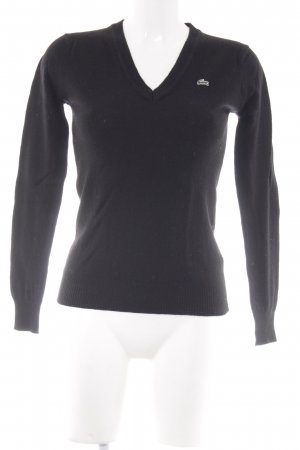 Lacoste Wollpullover schwarz Casual-Look