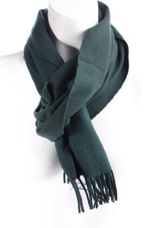 Lacoste Bufanda de lana verde oscuro look casual