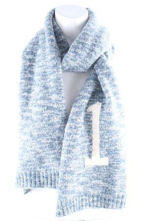 Lacoste Bufanda de lana petróleo-blanco moteado look casual