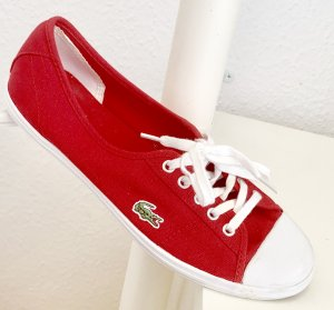 Lacoste Lace-Up Sneaker red
