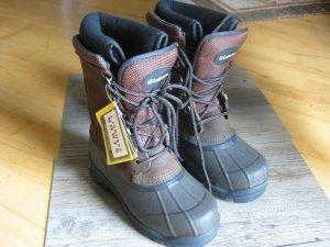 Snow Boots dark brown-brown suede
