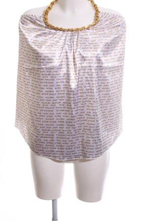 Ladies Top senza maniche bianco-oro stampa integrale stile stravagante
