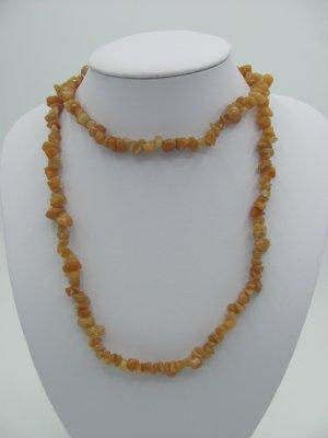 Collana argento-arancione