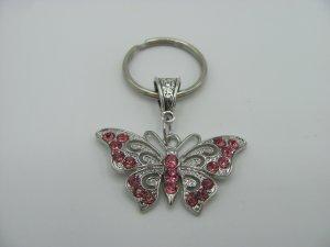Llavero color plata-rosa