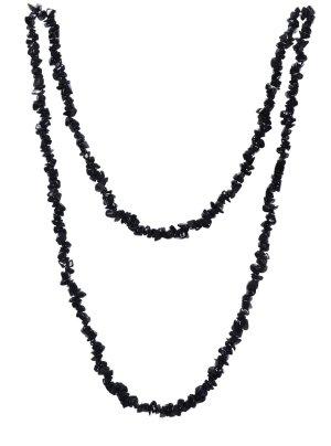 Ladinelle Onyx Edelsteine Endlos Halskette 90cm schwarz NEU&OVP %%% AUSVERKAUF