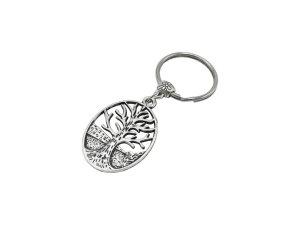Porte-clés argenté-gris