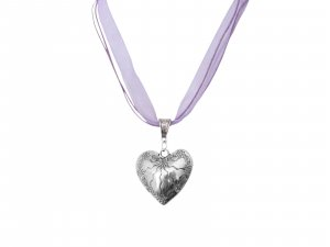 Collier argenté-violet