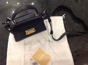Michael Kors Mini sac gris anthracite-brun sable cuir