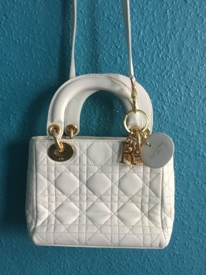 Lady Dior Mini Crossbody Cannage Weiß