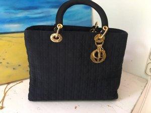 Dior Borsetta nero-oro Nylon
