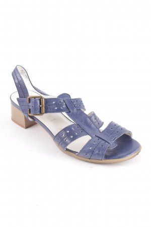Lady Gracia Strapped High-Heeled Sandals dark blue casual look