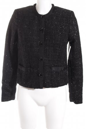 Lady in Paris Strickblazer schwarz Casual-Look