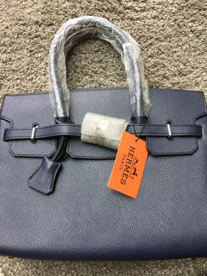 Carry Bag blue leather