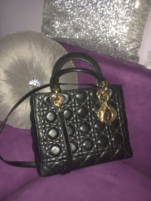 Christian Dior Carry Bag black leather