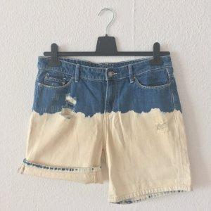 Esprit Pantaloncino di jeans blu-crema Cotone