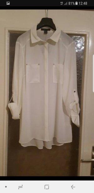 Längere, transparente, weiße Primark Bluse