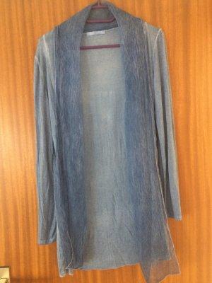 Längerer Cardigan, blau, Größe 1 (S)