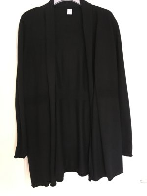 Längerer Cardigan schwarz