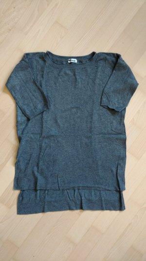Längerer Pullover Grau Gr. S