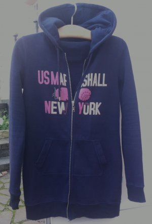Sweat Jacket dark blue-pink mixture fibre