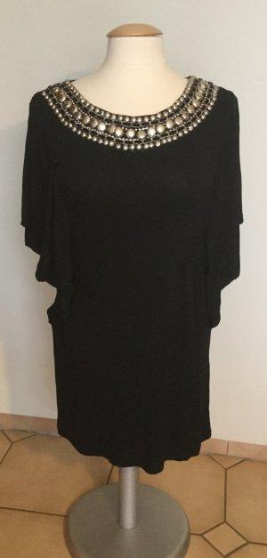 Hallhuber Camicia oversize nero Tessuto misto
