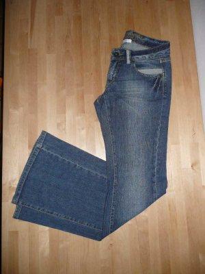 Promod Boot Cut Jeans steel blue cotton