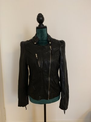 Arma Collection Leather Jacket black-silver-colored
