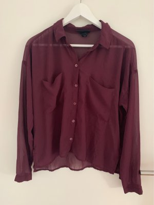 Monki Oversized Blouse brown red-brown violet