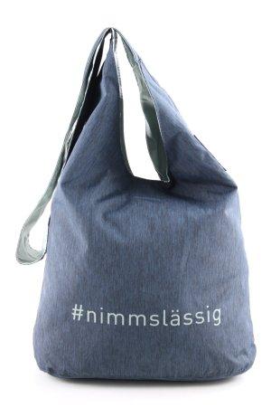 Lässig Shopper blau Schriftzug gedruckt Casual-Look