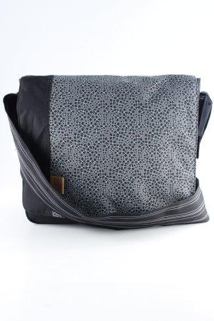 Lässig Umhängetasche schwarz-hellgrau florales Muster sportlicher Stil