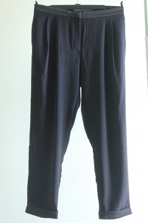 H&M Conscious Collection Pleated Trousers dark blue polyester
