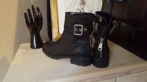 Zara Botas negro-color plata