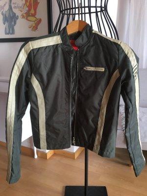 Lässige Biker-Jacke kurz, olivgrün, Gr. XS