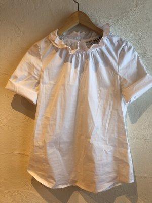 Bader Blusa con volantes blanco