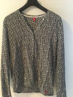 Lässige Bluse schwarz weiß Muster