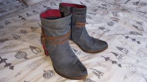 Tamaris Low boot marron clair-gris ardoise