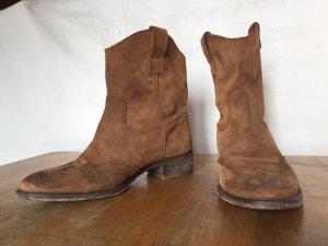 Lazamani Chelsea Boot cognac daim