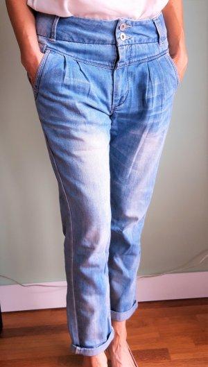 Only 7/8-jeans azuur Katoen