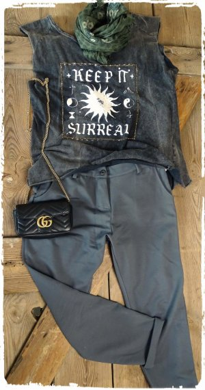 Jeggings gris oscuro