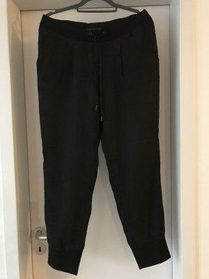 Lässige Cambiohose aus Seide Gr 40, elastisches Strickbündschen mit Kordel, Strickbund am Beinende, seitliche Taschen