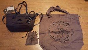 Lässige Campomaggi Handtasche in grau, NEU mit Etikett