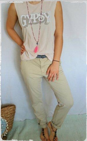 Pantalon chinos beige clair-beige