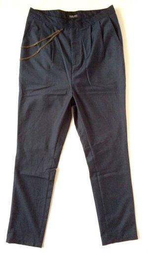 lässige dunkelblaue Boyfriend Bundfaltenhose von mbyM Gr. 36 S Modell Simon Slinky NEU! mit Etiketten