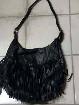 H&M Fringed Bag black