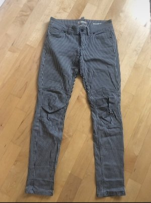 Marc O'Polo Lage taille broek zwart-wolwit