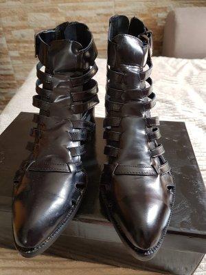 lässige Gladiator Sandalen/Stiefletten in schwarz