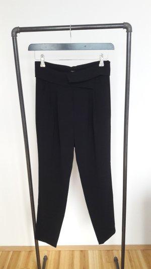 Marc Cain Peg Top Trousers black mixture fibre